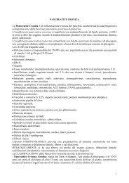 PANCREATITE CRONICA (prof - Help....La Prima Pietra