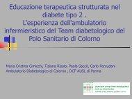 Educazione terapeutica strutturata nel diabete tipo 2 . L - Saluter