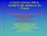 i costi sociali per il diabete nel mondo e in italia - Associazione ...