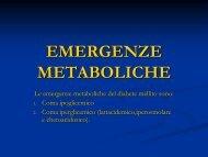 EMERGENZE METABOLICHE - Help....La Prima Pietra