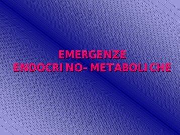 Emergenze Metaboliche - SunHope