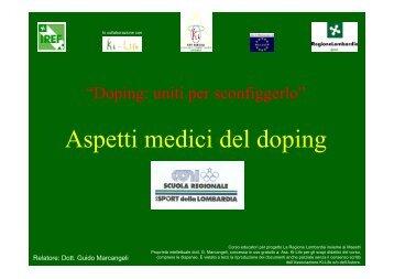 Aspetti medici del doping - Amici del Judo