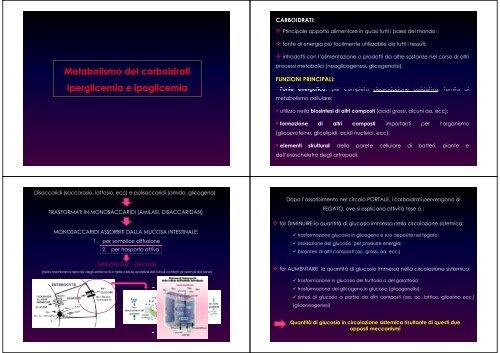 Malattie del metabolismo glucidico
