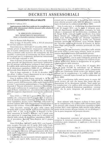 Decreto 7 febbraio 2013 - Francocrisafi.It