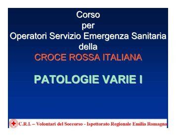PATOLOGIE VARIE I - Unione 118