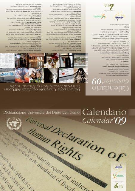 Scarica il Calendario dei Diritti Globali 2009 - Zonafranca - Spazi ...