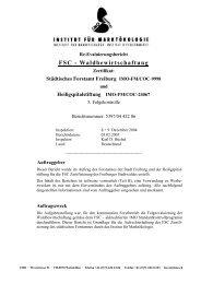 FSC - Waldbewirtschaftung - IMO