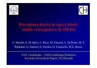 Prevalenza destra in epoca fetale: studio retrospettivo di 100 ... - SICP