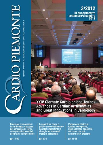 XXIV Giornate Cardiologiche Torinesi Advances in Cardiac ...