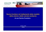 Nuove frontiere nel trattamento delle malattie delle arterie e delle ...