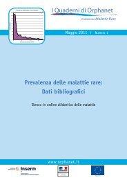 Prevalenza Malattie Rare per ordine alfabetico - IRCCS Oasi Maria ...