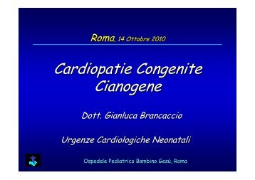 Cardiopatie Congenite Cianogene - Uticlab.It