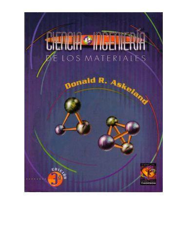 ciencia e ingenieria de los materiales - metalurgia-uda