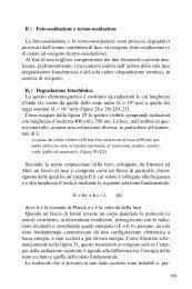 B ) Foto-ossidazione e termo-ossidazione La foto ... - ezio martuscelli