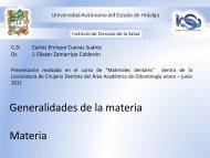 Generalidades de la materia - Universidad Autónoma del Estado de ...
