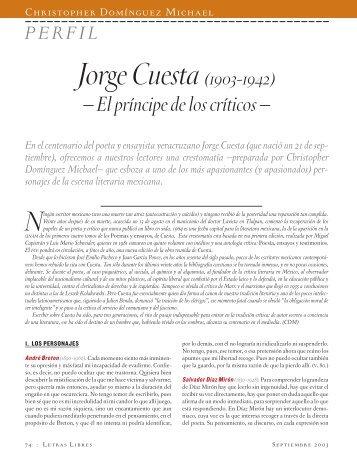 PERFIL Jorge Cuesta(1903-1942) - Letras Libres