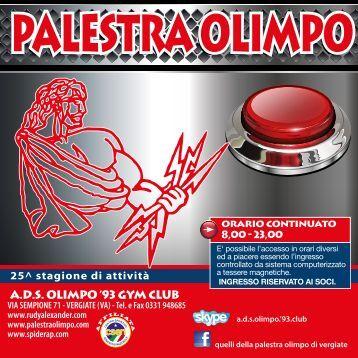 Volantino Palestra Olimpo 2013