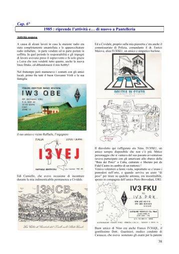 1985-1989 da IV3PRK riprende e ..di nuovo Pantelleria - A.R.I. Udine