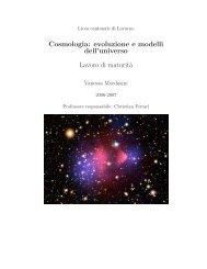 evoluzione e modelli dell'universo - Liceo cantonale di Locarno