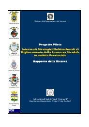 Interventi Strategici Multisettoriali - Sicurezza stradale Salerno