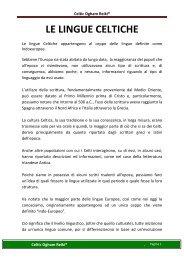 Le lingue celtiche x - Reiki Trieste