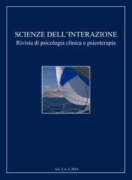 Scienze dell'Interazione anno 2010 n.3 - Scuola di specializzazione ...