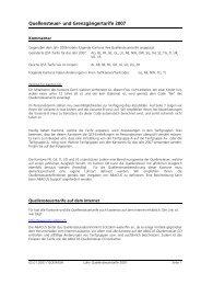 QuellensteuerJ und Grenzgängertarife 2007 - T&O Data AG