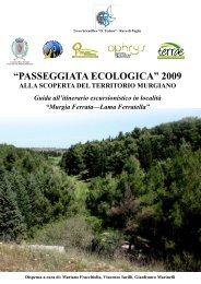 """PASSEGGIATA ECOLOGICA"" 2009 - Gruppo Speleologico Ruvese"