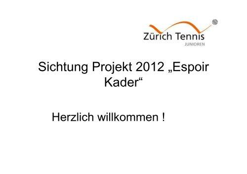 Anforderungen des Regionalverbandes (RVZT) - Zürich Tennis