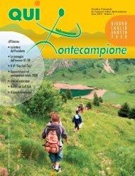 qui montecampione n° 1 giugno-luglio-agosto 2008 - Consorzio di ...