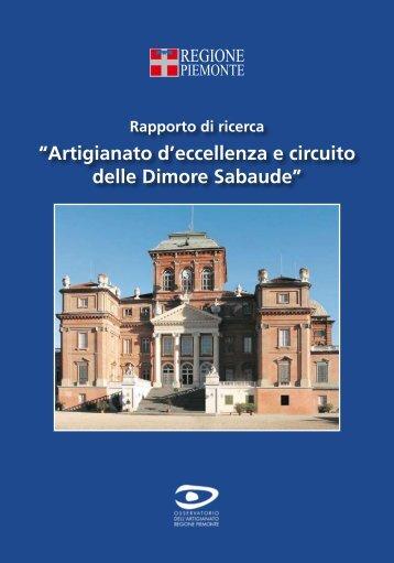Circuito delle dimore sabaude e artigianato d'eccellenza, pdf