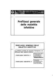 Profilassi gen.mal.inf.pdf - Universita degli studi di Ferrara