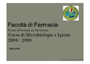 Virologia - Università degli Studi di Bari