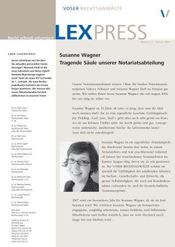 Susanne Wagner Tragende Säule unserer Notariatsabteilung