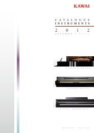 Kawai Products Catalogue 2012 Autumn-Winter (Français / Italiano)