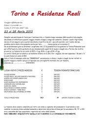 Torino e Residenze Reali - Camperlife