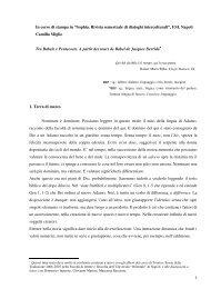 Sophia. Rivista semestrale di dialoghi interculturali - Il Porto di Toledo
