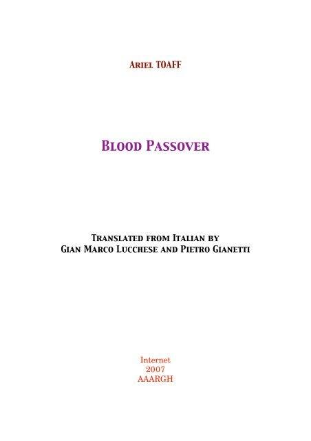 Blood Passover