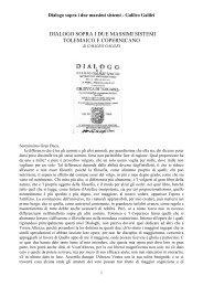 DIALOGO SOPRA I DUE MASSIMI SISTEMI - COMUNICHIAMO