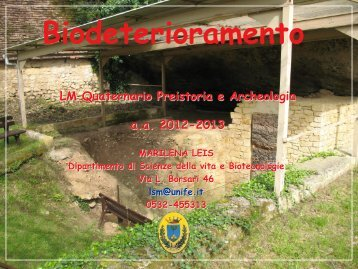1. Biodeterioramento.pdf - Corso di Laurea in Matematica