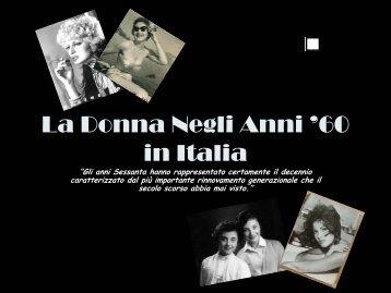 La Donna Negli Anni '60 in Italia - Erasmosesto.Eu