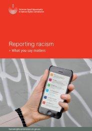 Reporting racism