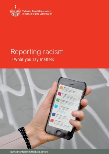 Reporting racism