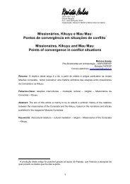Missionrios, Kikuyu e Mau Mau: pontos de convergncia ... - Unicamp
