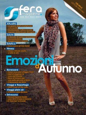 Anno VI Numero 3 Ottobre'12 - Sfera magazine
