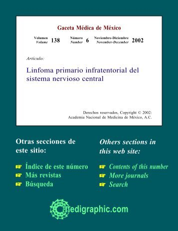 Linfoma primario infratentorial del sistema ... - edigraphic.com
