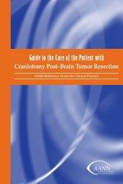 Craniotomy Post–Brain Tumor Resection - American Association of ...