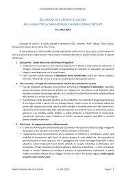 relazione del gruppo di lavoro sulla didattica laboratoriale in ...