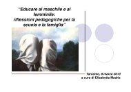 """""""Educare al maschile e al femminile: riflessioni ... - I. C. Tarcento"""