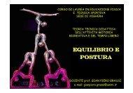 X lezione - equilibrio e postura